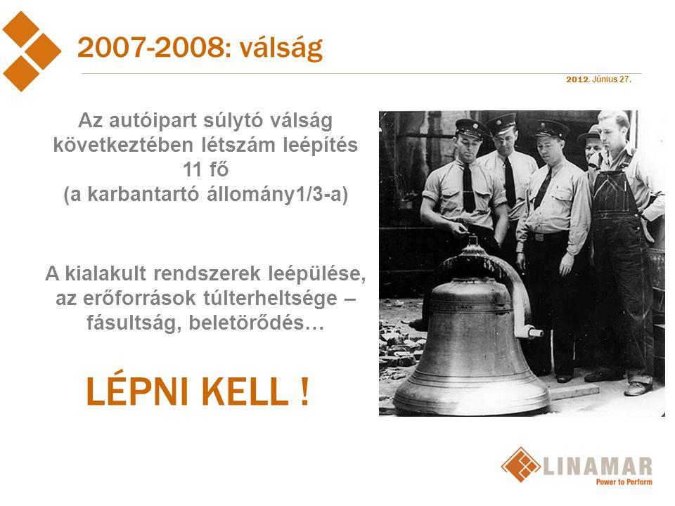2012.Június 27. 2009 : újraszerveződés és TPM  2009.