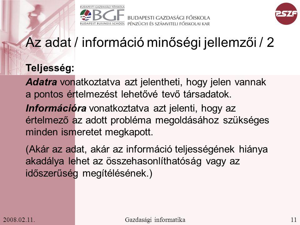 11Gazdasági informatika2008.02.11.