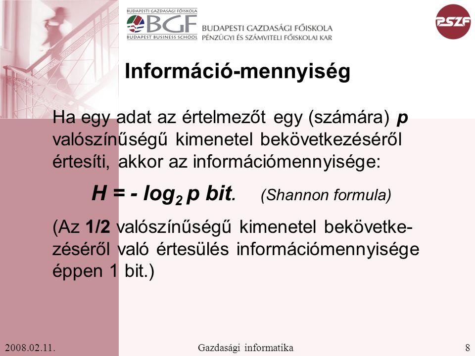 9Gazdasági informatika2008.02.11.