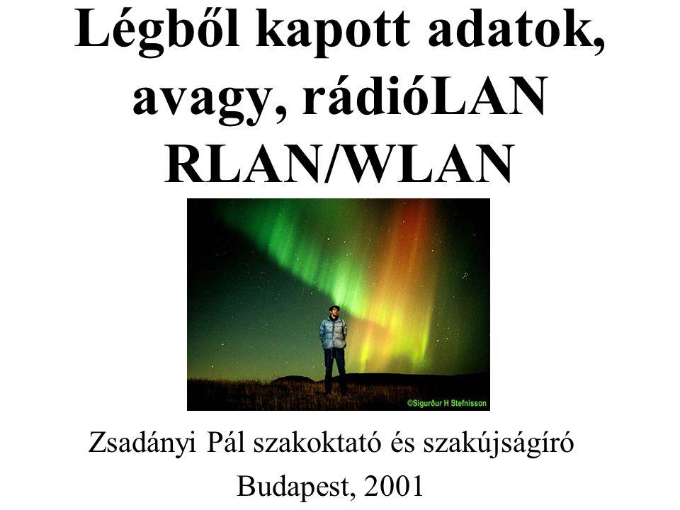 Légből kapott adatok, avagy, rádióLAN RLAN/WLAN Zsadányi Pál szakoktató és szakújságíró Budapest, 2001