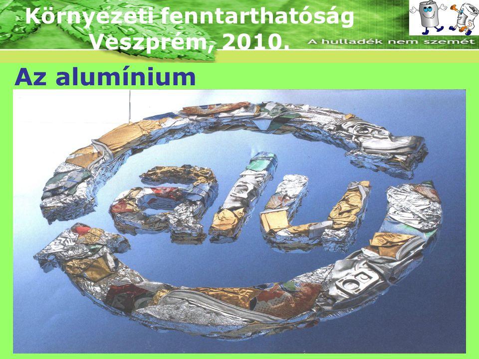 Környezeti fenntarthatóság Veszprém, 2010. Az alumínium gyártása Az öntvény: