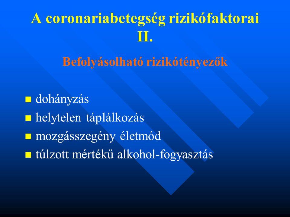 A coronariabetegség rizikófaktorai II.