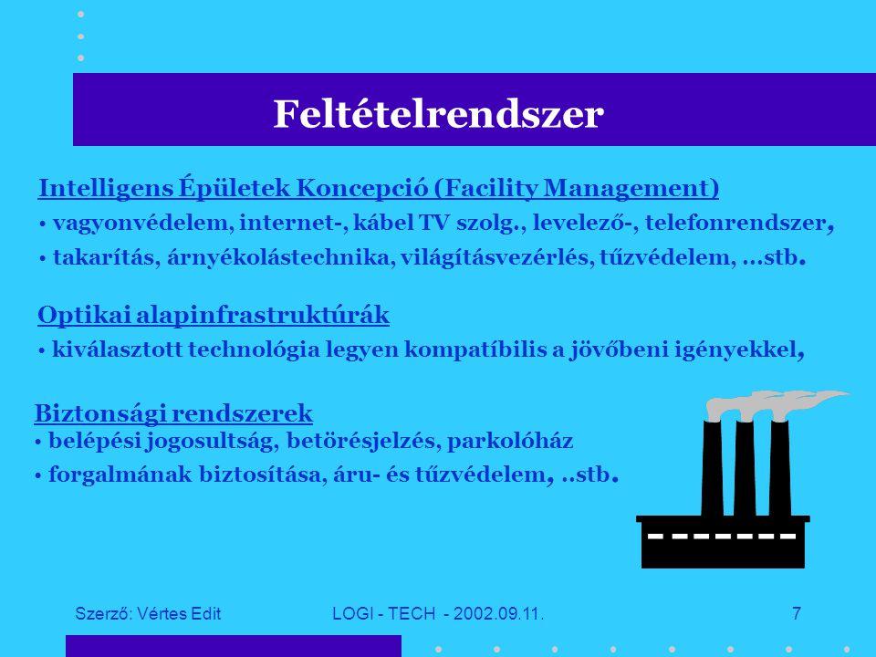 Szerző: Vértes EditLOGI - TECH - 2002.09.11.6 Üzleti tanácsadás igényfelmérés, koncepció kidolgozása, konzultáció, szaktanácsadás, ügyviteli javaslatok, outsourcing szolgáltatás; Vállalat működését segítő vállalati információs rendszerek alkalmazói szoftverek; szoftverfejlesztés ; testre szabott, ill.