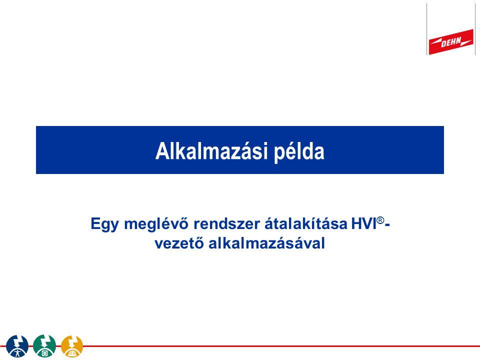 Alkalmazási példa Egy meglévő rendszer átalakítása HVI ® - vezető alkalmazásával