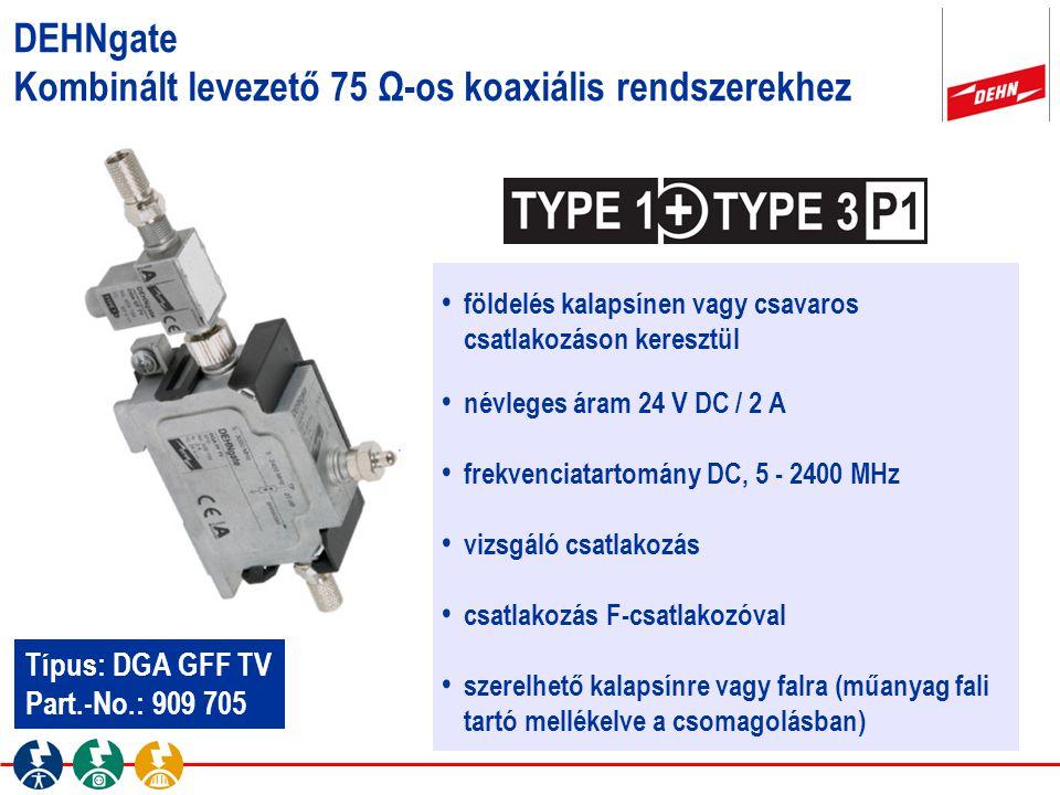 földelés kalapsínen vagy csavaros csatlakozáson keresztül névleges áram 24 V DC / 2 A frekvenciatartomány DC, 5 - 2400 MHz vizsgáló csatlakozás csatla