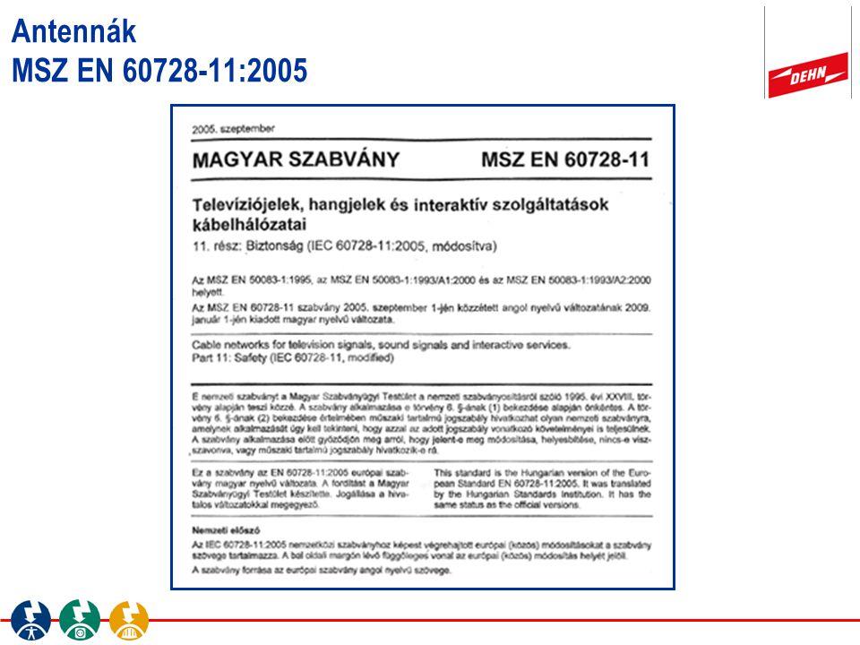 Antennák MSZ EN 60728-11:2005