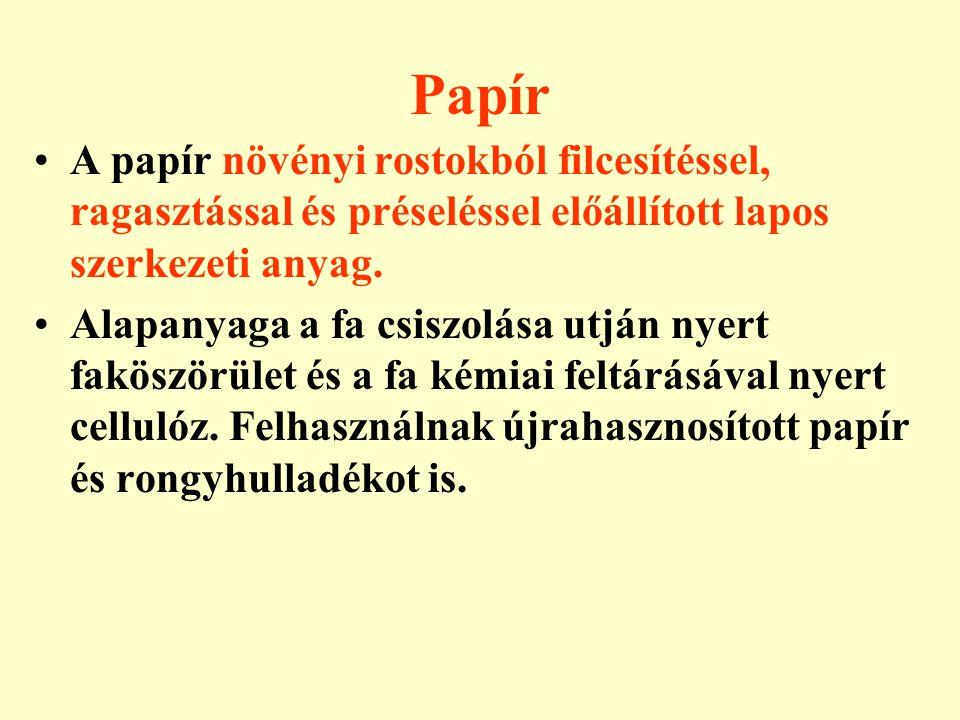 Papír Töltőanyagokkal (pl.