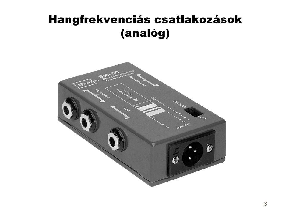 3 Hangfrekvenciás csatlakozások (analóg)
