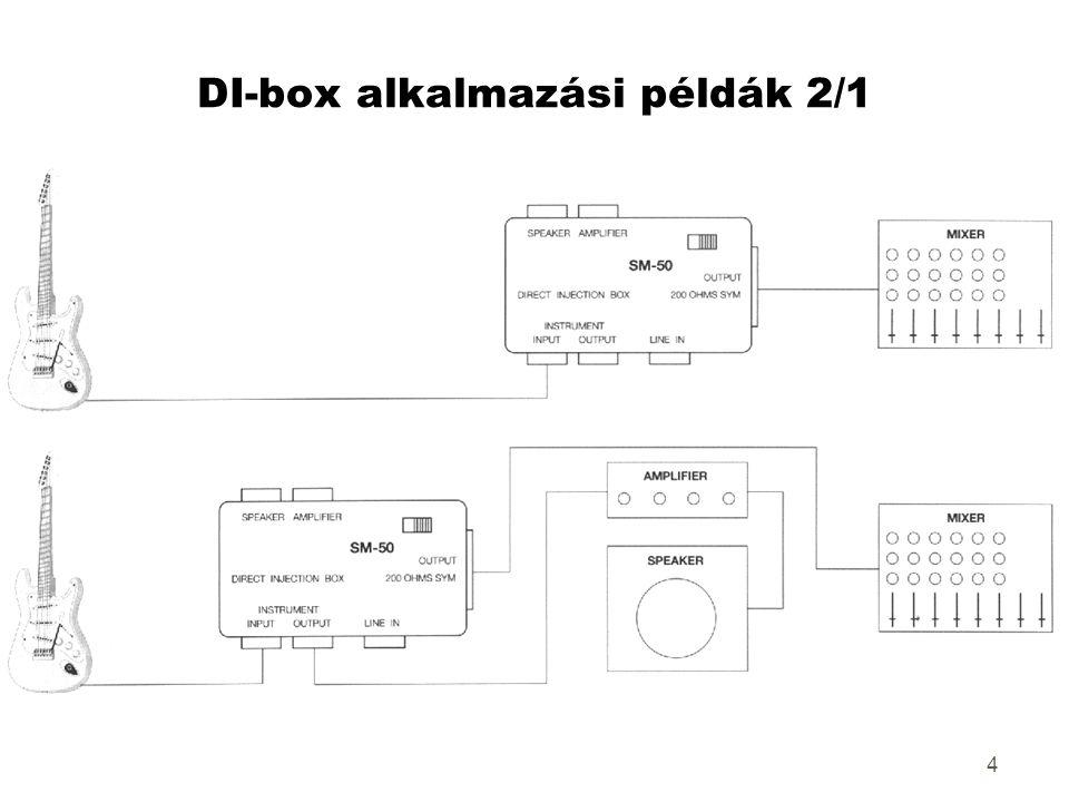 4 DI-box alkalmazási példák 2/1