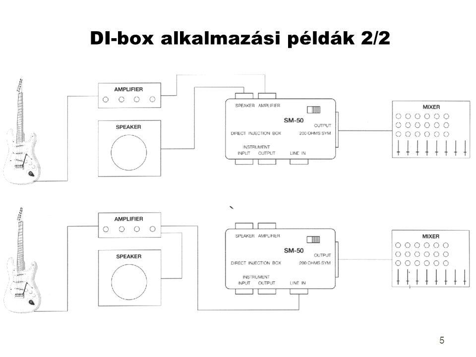 5 DI-box alkalmazási példák 2/2