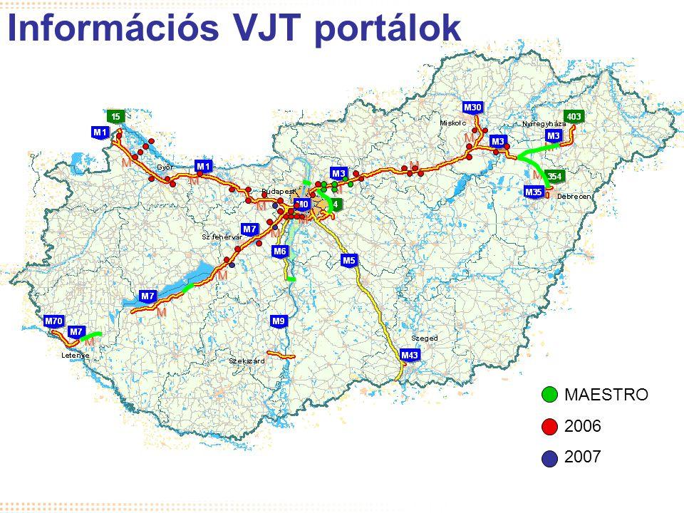 I.Térkép a hálózattal M M M M M M MMM M M M M Információs VJT portálok MAESTRO 2006 2007