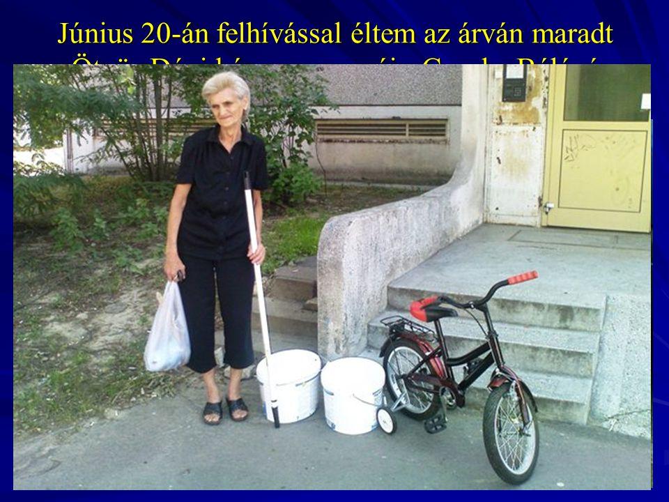 Június 20-án felhívással éltem az árván maradt Ötvös Dávid és nagymamája Csepke Béláné megsegítésére. A jelentős adományokból élelmiszer, mosógép, ker