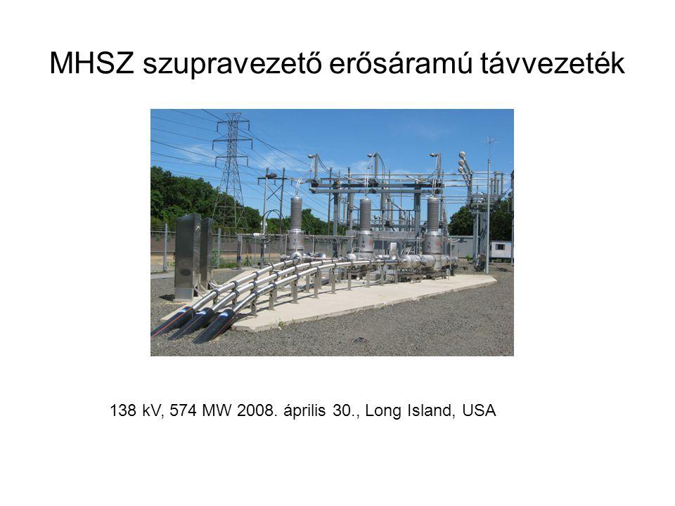 MHSZ szupravezető erősáramú távvezeték 138 kV, 574 MW 2008. április 30., Long Island, USA