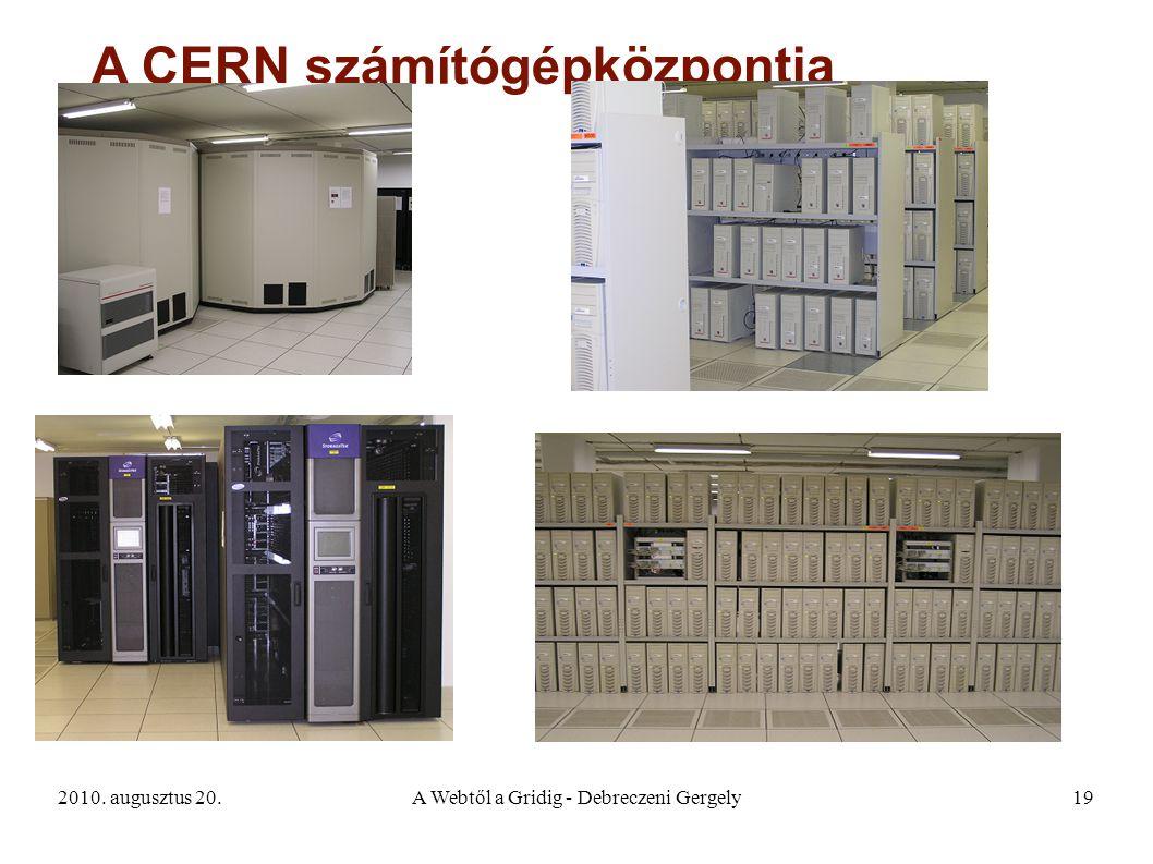 2010. augusztus 20.A Webtől a Gridig - Debreczeni Gergely19 A CERN számítógépközpontja