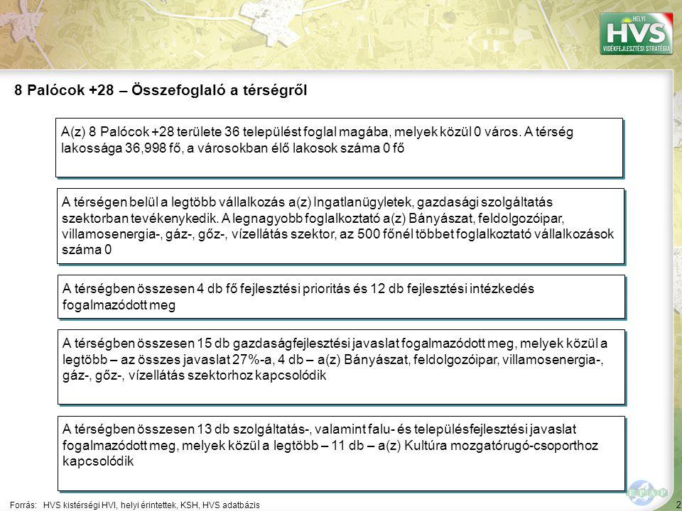 2 Forrás:HVS kistérségi HVI, helyi érintettek, KSH, HVS adatbázis 8 Palócok +28 – Összefoglaló a térségről A térségen belül a legtöbb vállalkozás a(z)