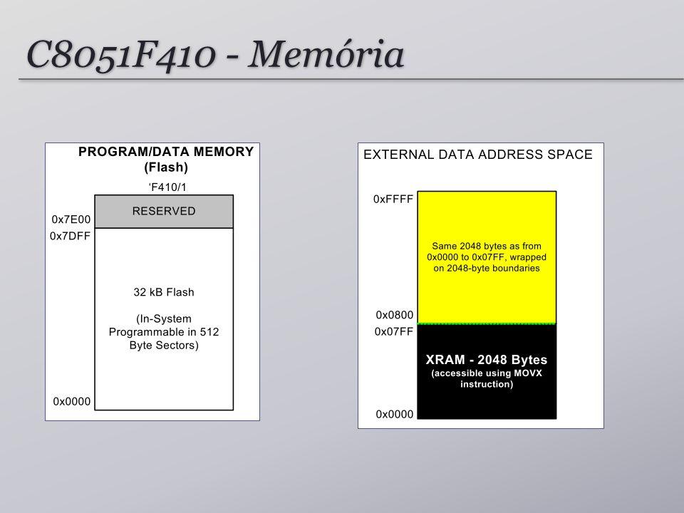 C8051F410 - Memória