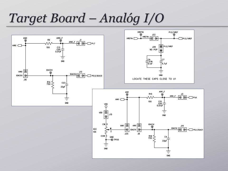 Target Board – Analóg I/O
