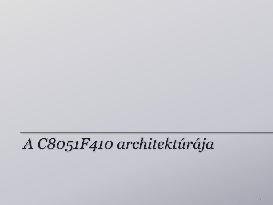 A C8051F410 architektúrája 9
