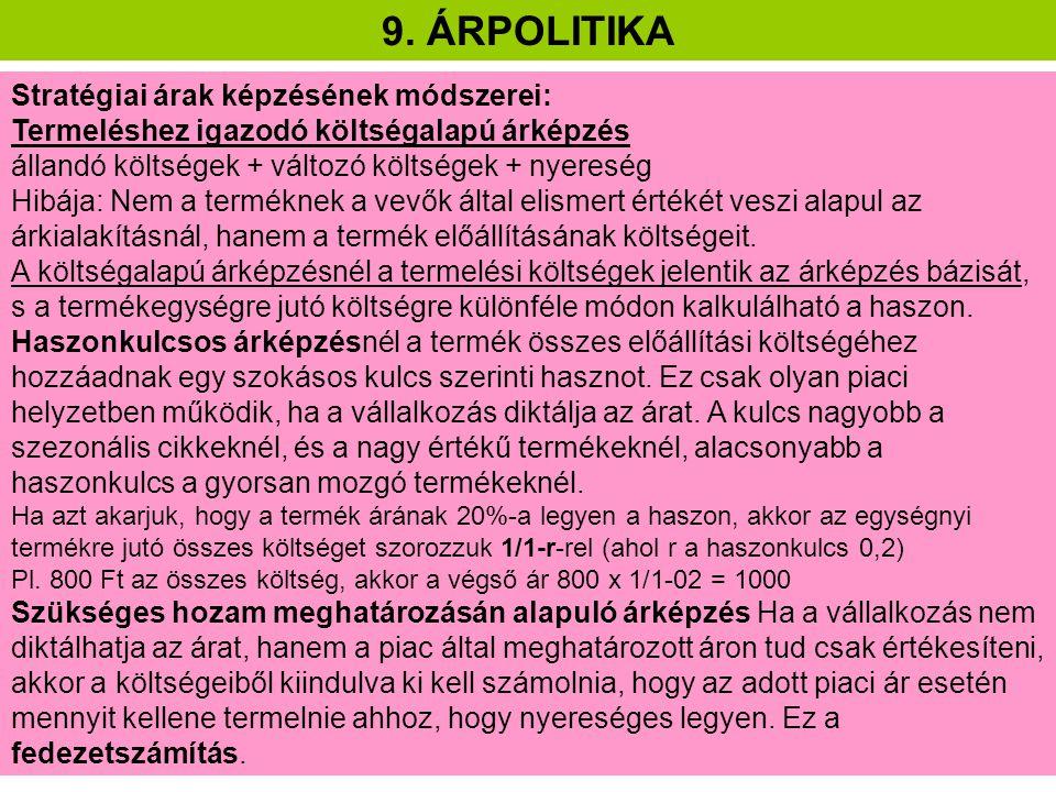 9.ÁRPOLITIKA Pl.