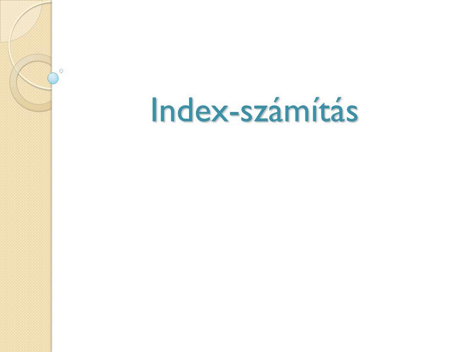 Index-számítás