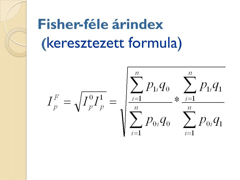 Fisher-féle árindex ( keresztezett formula)