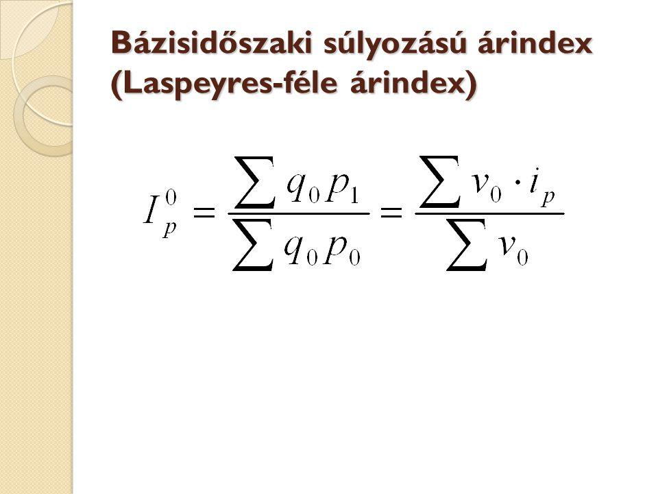 Bázisidőszaki súlyozású árindex (Laspeyres-féle árindex)