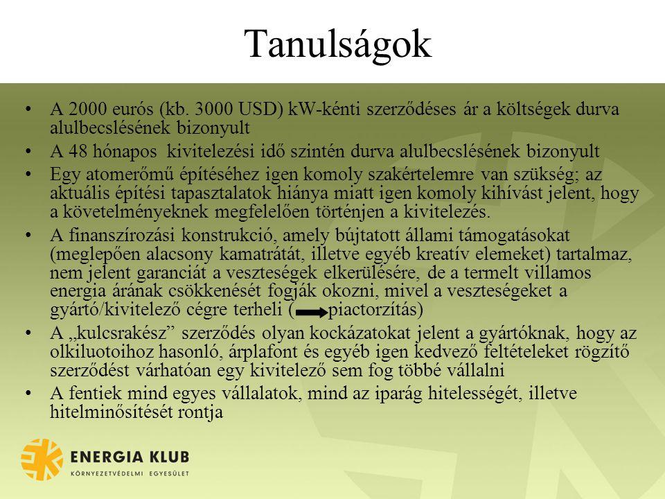 Tanulságok A 2000 eurós (kb.