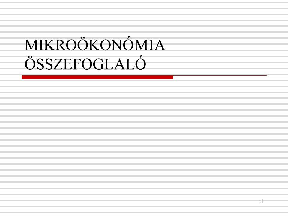1 MIKROÖKONÓMIA ÖSSZEFOGLALÓ