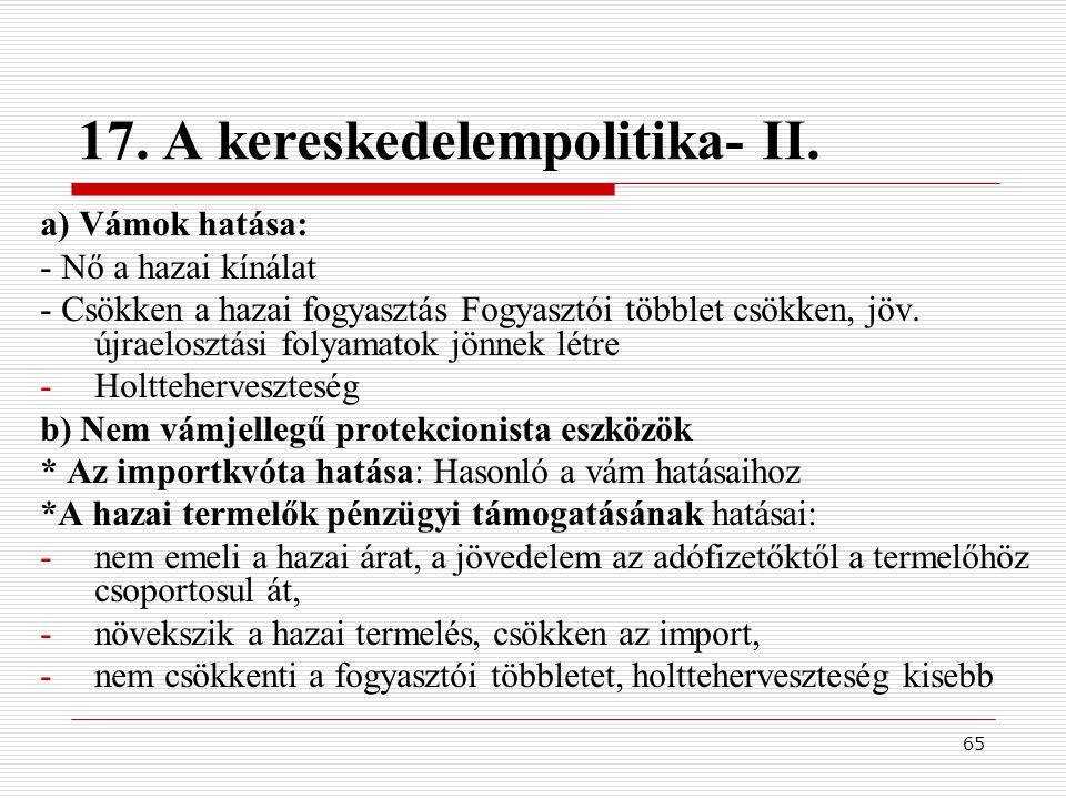 65 17.A kereskedelempolitika- II.