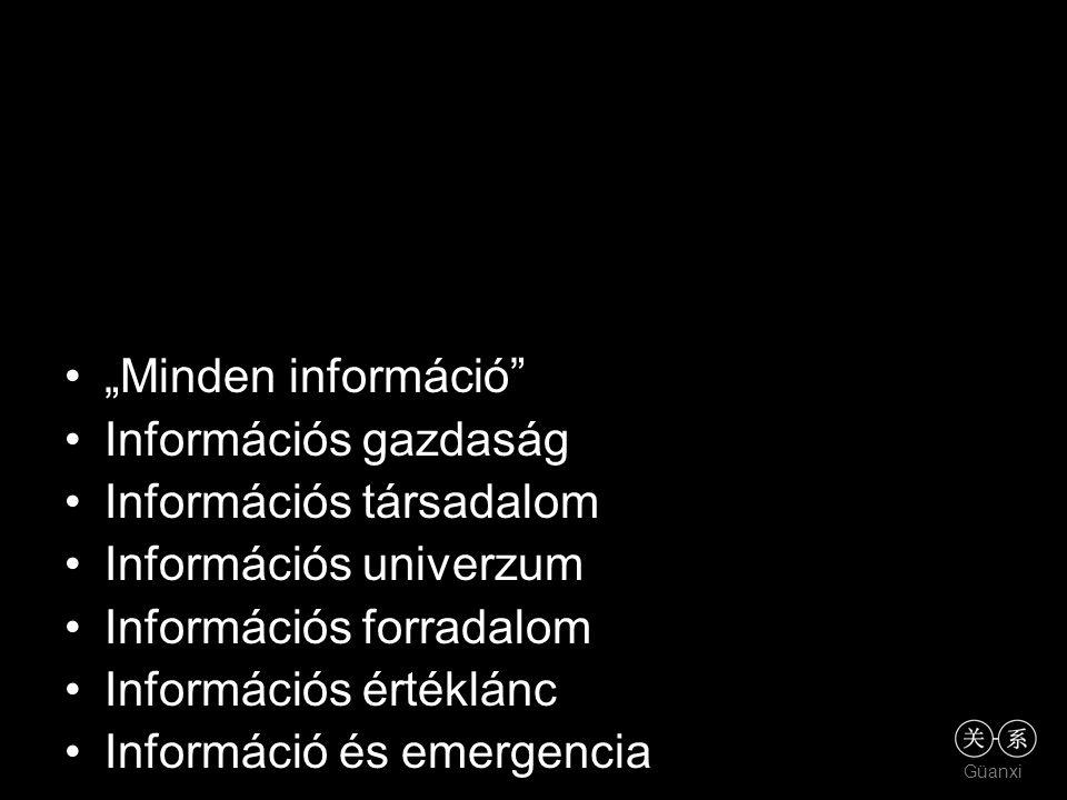 """Güanxi """"Minden információ"""" Információs gazdaság Információs társadalom Információs univerzum Információs forradalom Információs értéklánc Információ é"""