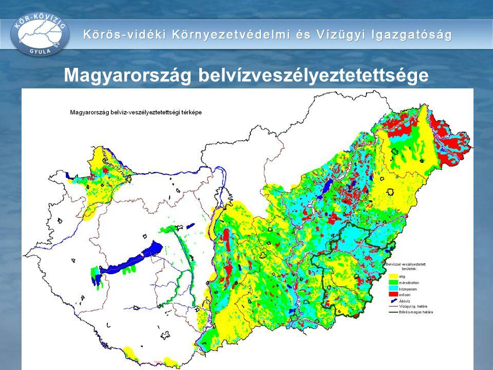 Békés-megye belvízveszélyeztetettsége
