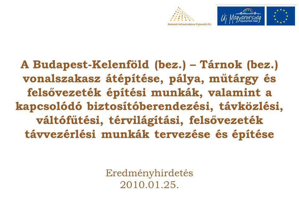 A Budapest-Kelenföld (bez.) – Tárnok (bez.) vonalszakasz átépítése, pálya, műtárgy és felsővezeték építési munkák, valamint a kapcsolódó biztosítóbere