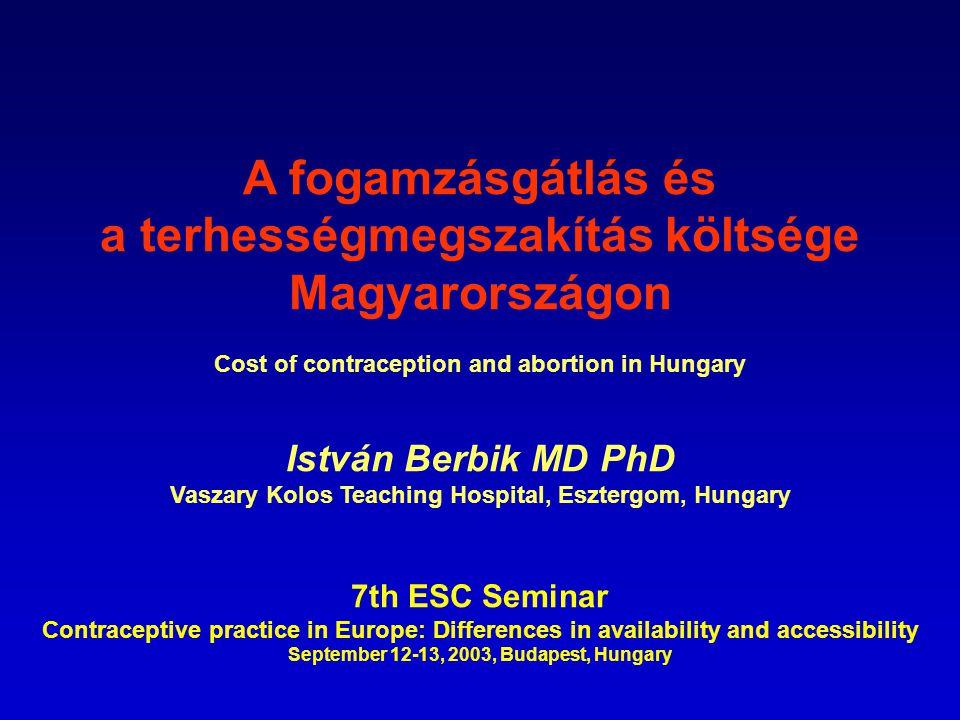 Sample: who have children Fogamzásgátló módszerek megoszlása (Distribution of contraceptive methods in Hungary) (Közvéleménykutató: Median, közlés a Schering Kft.