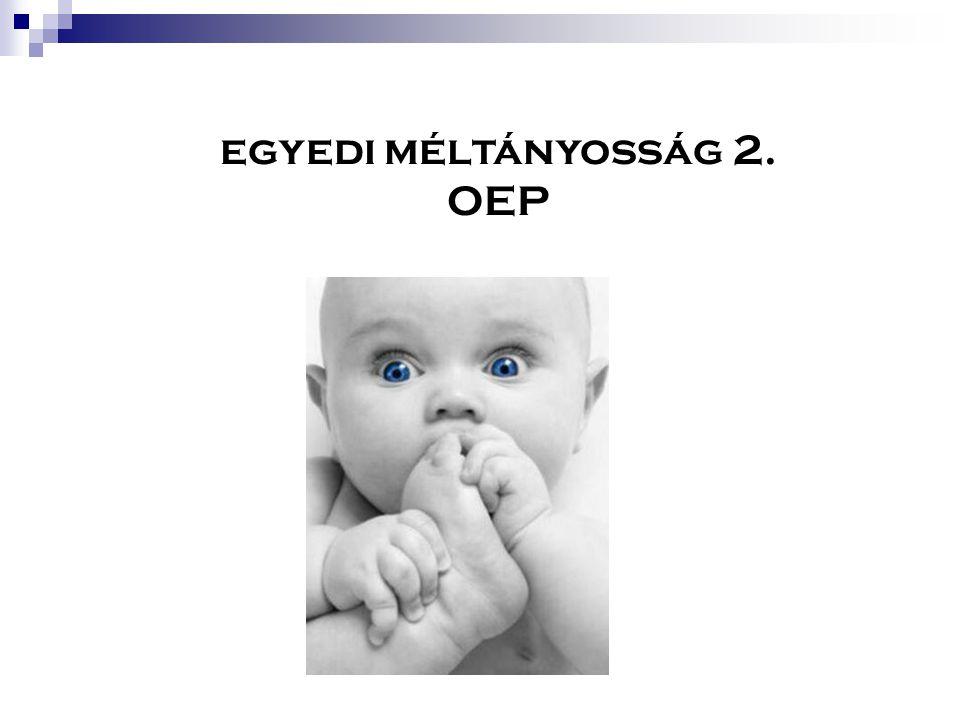 egyedi méltányosság 2. OEP