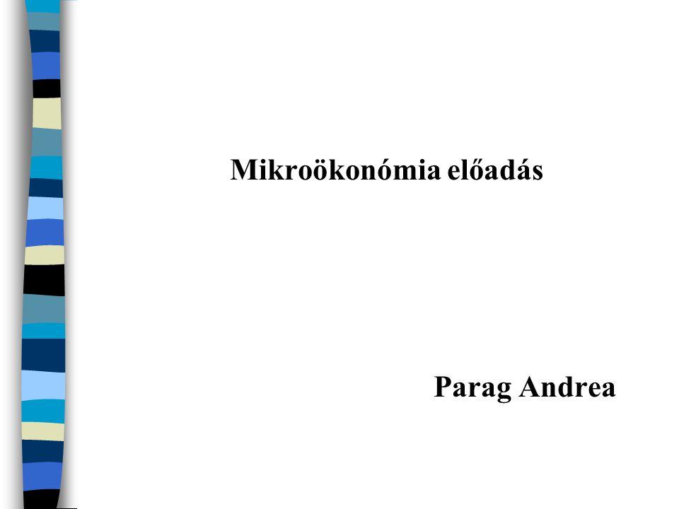 Mikroökonómia előadás Parag Andrea