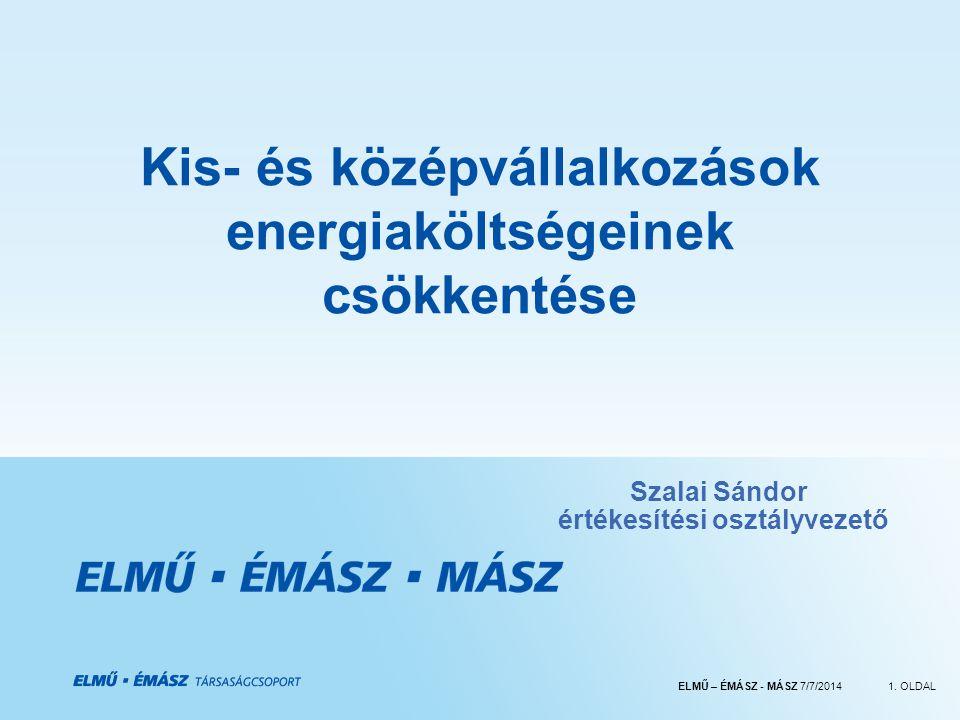 ELMŰ – ÉMÁSZ - MÁSZ 7/7/20141.