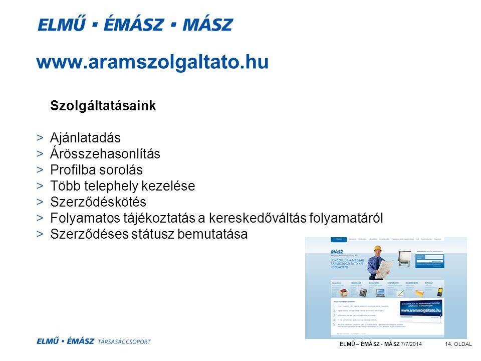 ELMŰ – ÉMÁSZ - MÁSZ 7/7/201414.