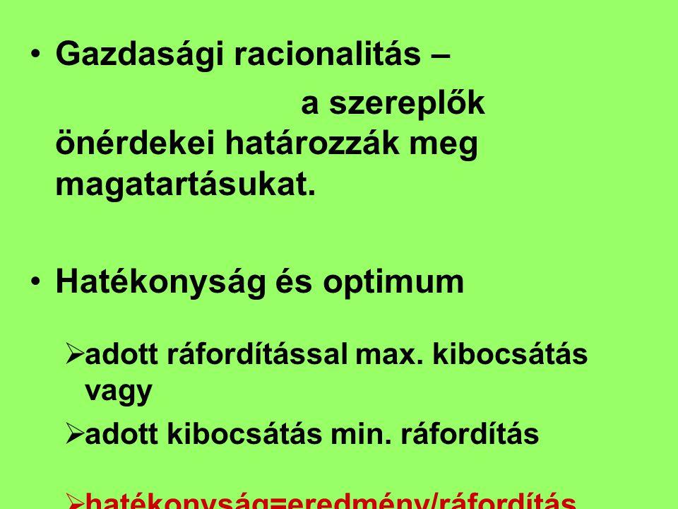 Munka (Labour) Természeti tényezők (lAnd) Tőkejavak (reáljavak; pénz, értékpapír) (Capital – K) Vállalkozói szolgáltatás (Enterpreneur) Termelési tényezők