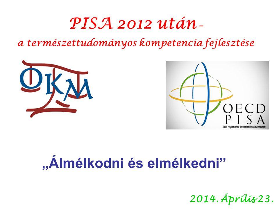 """2014. Április 23. PISA 2012 után – a természettudományos kompetencia fejlesztése """"Álmélkodni és elmélkedni"""""""