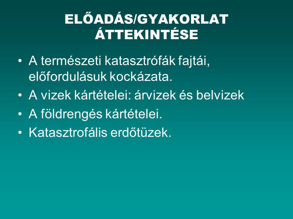 Magyarországon a legjelentősebb területi környezetbiztonsági kockázatot az ár- és belvíz- veszélyeztetettség jelenti.