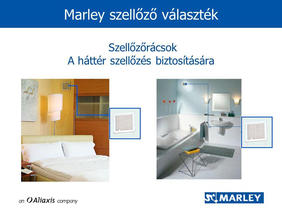 Szellőzőrácsok A háttér szellőzés biztosítására Marley szellőző választék