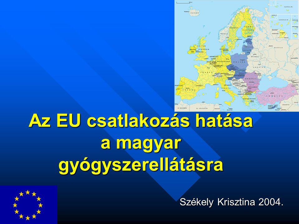 Az EU csatlakozás hatása a magyar gyógyszerellátásra Székely Krisztina 2004.