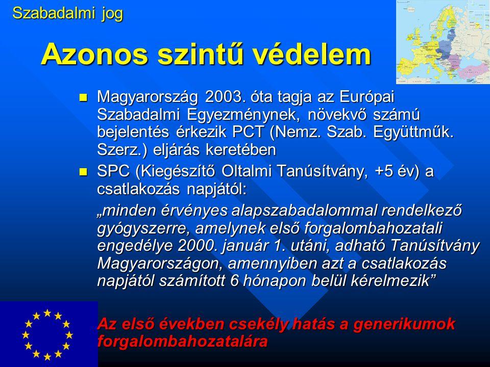Törzskönyvezés 1.Nemzeti törzskönyvezésű szerek: a dokumentáció kötelező felújítása 2003.