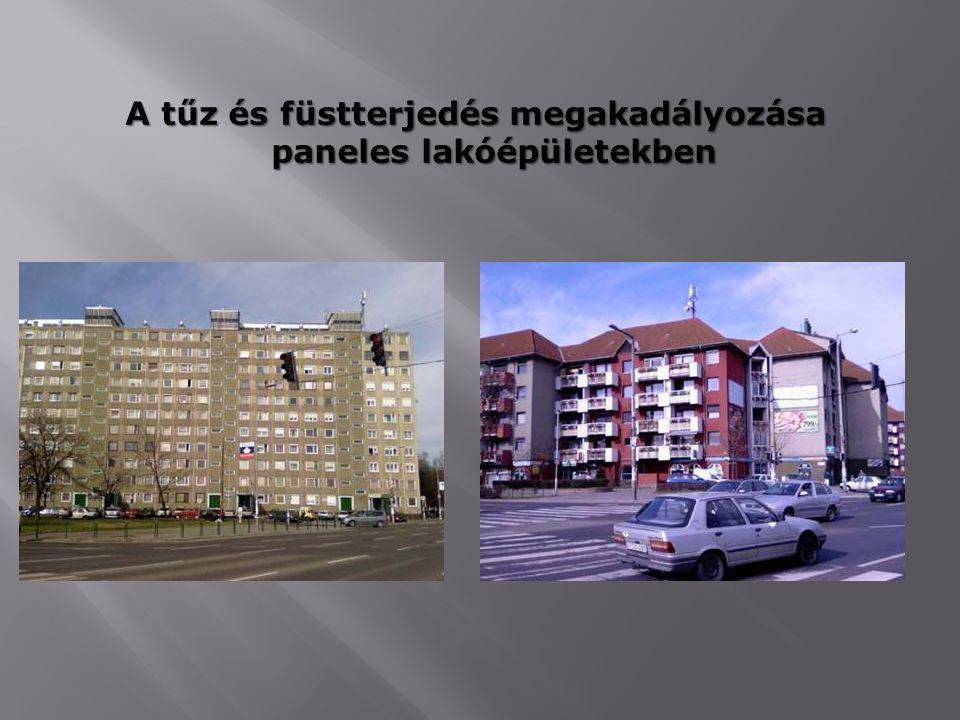 A tűz és füstterjedés megakadályozása paneles lakóépületekben