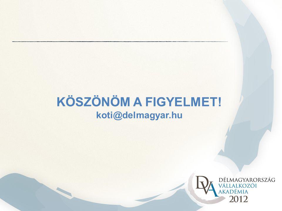 KÖSZÖNÖM A FIGYELMET! koti@delmagyar.hu