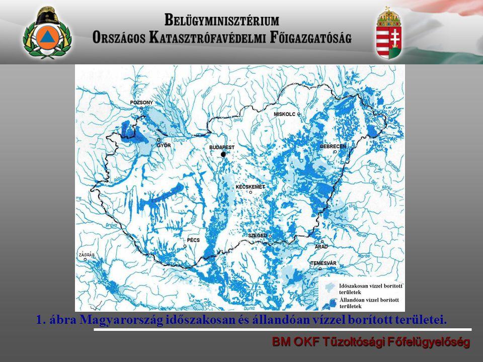 BM OKF Tűzoltósági Főfelügyelőség 1. ábra Magyarország időszakosan és állandóan vízzel borított területei.