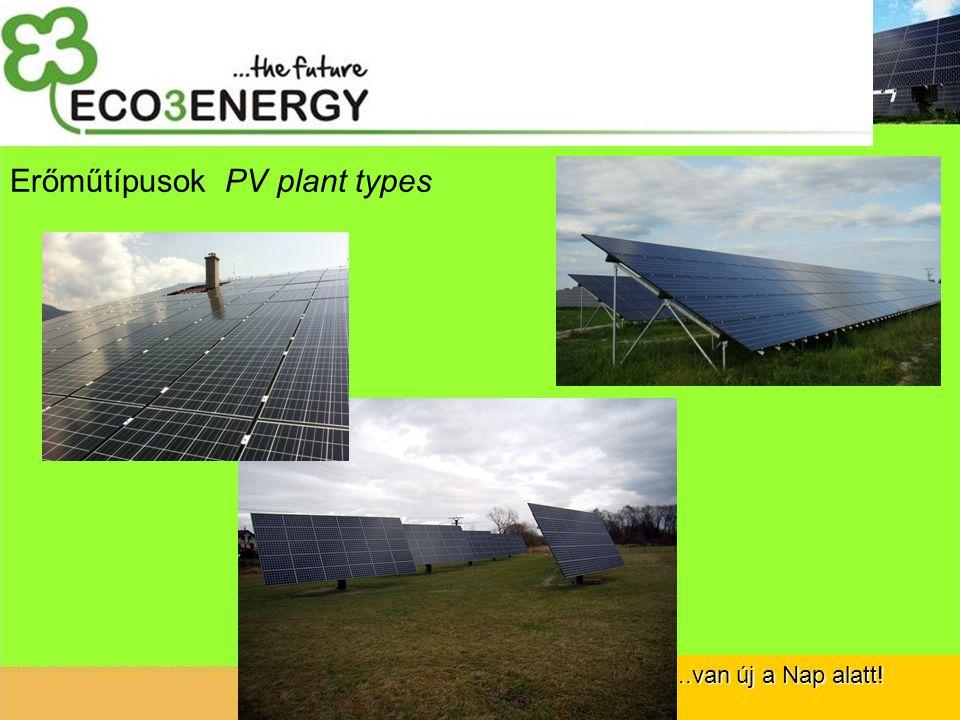 ...van új a Nap alatt! Erőműtípusok PV plant types