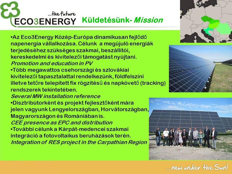 Az Eco3Energy Közép-Európa dinamikusan fejl ő d ő napenergia vállalkozása.