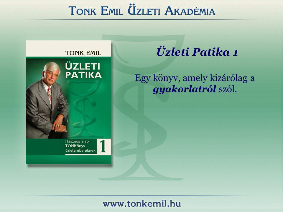 Egy könyv, amely kizárólag a gyakorlatról szól. Üzleti Patika 1