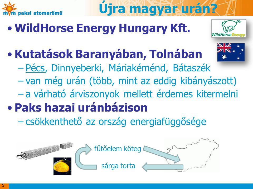 Újra magyar urán? WildHorse Energy Hungary Kft. Kutatások Baranyában, Tolnában –Pécs, Dinnyeberki, Máriakéménd, Bátaszék –van még urán (több, mint az